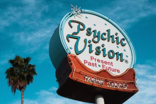 Psychic ad sign